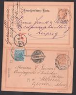 Laibach Ljubluana, Gablonz A.d. Neisse 2 Correspondzkarten 1897 Bzw 1898, Dabei 1 Kte Nach Der Schweiz - 1850-1918 Imperium
