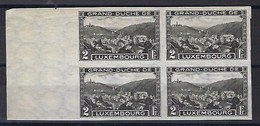 Luxembourg - Luxemburg  -  Timbres  1935  Clervaux , Bloc à 4 - 2 Fr. MNH **  K W  80,- - Blocks & Sheetlets & Panes