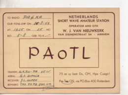 Cpa.Cartes QSL.PAoTL.1949.Rotterdam.to PAOKA - Radio Amatoriale