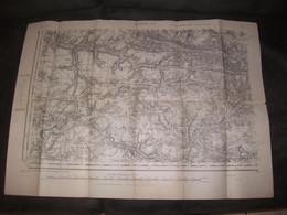 Soissons Carte Guerre Topographique Février 1945 Vivières Morienval Dampleux Corcy  Dammard Cuvergnon Antilly Ivors Duvy - Topographische Karten