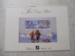 Belgique Bloc 166 Antarctic Premier Jour / Belgie Blok 166 Gestempelt Mooie Antarctique Eerste Dag 2009 - Belgium