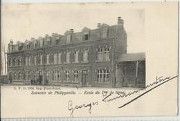 Souvenir De Philippeville - Ecole Du 7me De Ligne - Carte D.V.D. N°7554 - 1905 - Philippeville