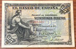 Spagna Espana Alfonso Xiii 25 Pesetas 1906 Bb Forelini Pick#57  LOTTO 131 - 25 Pesetas