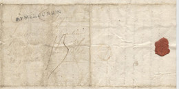 Révolution, 1793, Marque Postale Armée Du Rhin ,Bataillon Lot Et Garonne N° 8,  Général Custine, Beauharnais,Wissembourg - Documenti Storici