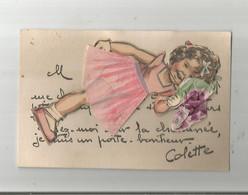 GERMAINE BOURET CARTE AVEC DECOUPIS COLETTE - Bouret, Germaine