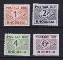 Rhodesia: 1965  Postage Due Set    SG D8-D11   MH - Rhodesië (1964-1980)