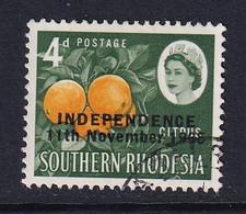 Rhodesia: 1966   QE II - Pictorial 'Independence' OVPT     SG363     4d    Used - Rhodesien (1964-1980)