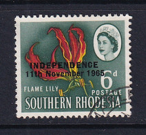 Rhodesia: 1966   QE II - Pictorial 'Independence' OVPT     SG364     6d    Used - Rhodesien (1964-1980)
