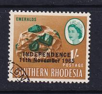 Rhodesia: 1966   QE II - Pictorial 'Independence' OVPT     SG366     1/-    Used - Rhodesien (1964-1980)