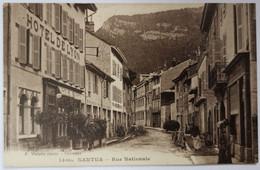 CPA NANTUA (01): Rue Nationale (devant L'hôtel De Lyon) - Nantua