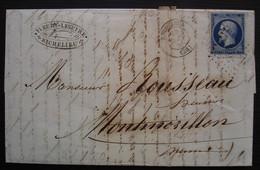 Richelieu Indre Et Loir 1856 Pc 2669 Sur N°14 Lettre De Fleury Lesufre Pour Montmorillon - 1849-1876: Classic Period