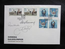 Sweden FDC 2012 Svenska Guldolympier - Signed - FDC