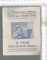 PG /  Vintage // PROGRAMME CINEMA Ancien CLUB Des VARIETES @@ IL ETAIT UNE PETITE FILLE @@ Ivanova URSS - Programmes