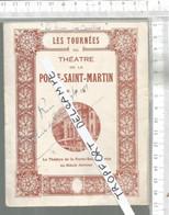 PG /  Vintage // PROGRAMME THEATRE Porte Saint MARTIN @@ LA DAME AUX CAMELIAS // EDMOND ROSTAND   Jeanne LION - Programmes