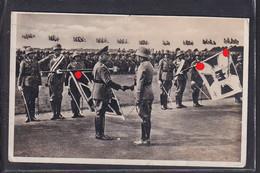 S44 /  Wehrmacht Soldaten / Fahnenübergabe Generaloberst Freiherr V. Fritsch Pionier Batl.8 Neisse - Guerra 1939-45