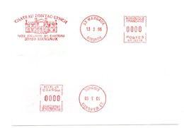 GIRONDE - Dépt N° 33 = MARGAUX 1996 = EMA Thème VIN ' CHATEAU PONTAC LYNCH ' - Affrancature Meccaniche Rosse (EMA)