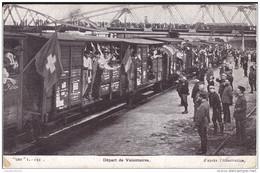 DEPART DE VOLONTAIRES - Guerra 1914-18