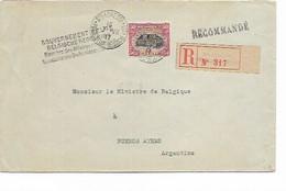 SH 0680. N° 144 Ste ADRESSE 7.VII.17 S/Lettre RECOMMANDEE Vers Ambassadeur Belge à BUENOS AIRES (Argentine). TB - Niet-bezet Gebied