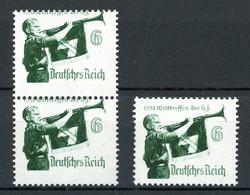 Deutsches Reich 2 X MiNr. 584 Postfrisch MNH Stark Verzähnt (V284 - Abarten