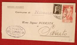 STORIA POSTALE - AFFRANCATURA DOPPIA CENT. 20 BIMILLENARIO DI AUGUSTO + CENT 5 IMPERIALE - Storia Postale