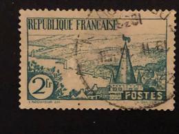 Timbre 301  2f Vert Rivière Bretonne  Oblitéré  Cote 1€ - France