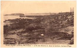 56 PORT-LOUIS - L'ile Des Souris Et, Dans Le Lointain Larmor-plage - Port Louis