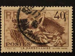 Timbre 315  40c Brun  Marseillaise  Oblitéré  Cote 3,80€ - France