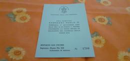 BIGLIETTO INGRESSO GIUBILEO DELLA TERZA ETÀ 2000 GIOVANNI PAOLO II - Anuncios