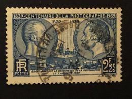 Timbre 427  2f25 Bleu Niepce Et Daguerre Oblitéré  Cote 7,00€ - France