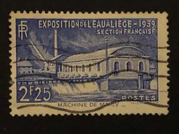 Timbre 430  2f25 Outremer Exposition à Liège Oblitéré  Cote 6,00€ - France
