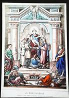 """""""Thème FRANC-MAÇON"""" Tableau Lithographie  XIX    Maçonnerie-Freemason France - Philosophie"""