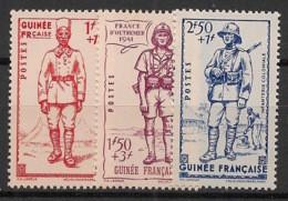 Guinée - 1941 - N°Yv. 169 à 171 - Défense De L'empire - Neuf Luxe ** / MNH / Postfrisch - Unused Stamps