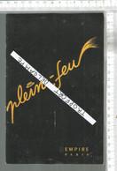 PG  / Vintage  // PROGRAMME THEATRE De L'EMPIRE 1952 @@ PLEIN FEUX @@ MAURICE CHEVALIER // Colette MARCHAND - Programmes