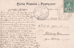 Belgique - COB 110 Sur Carte Postale Oblitération Herbesthal-Bruxelles-Brussel - 12 Juin 1914 - Voir Desc. - 1912 Pellens