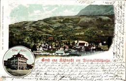 77948- Gruß Aus Küßnacht Am Vierwaldstättersee Mit Hotel Adler, Kanton Schwyz 1903 - SZ Schwyz