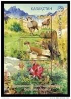 Kazakhstan 2017 Mih. 1040/42 (Bl.97) Karatau Nature Reserve. Fauna And Flora. Arkhar. Ermine. Sweetvetch MNH ** - Kasachstan
