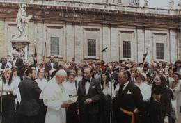 Ottignies LOUVAIN-LA-NEUVE  1985 Pape JEAN-PAUL II COMMUNAUTÉ ACADÉMIQUE Carte De Voeux Sénateur Bourgmestre - Anuncios