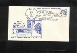 USA 1979 Antarctica 50th Anniversary Of Byrd Antarctic Expedition Interesting Letter - Antarktis-Expeditionen