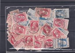 N° 74 Et 76  : 100 Timbres Oblitérés - 1905 Grosse Barbe
