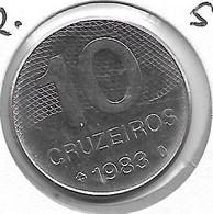 *brazil 10 Cruzeiros  1983  Km 592.1 Unc - Brasile