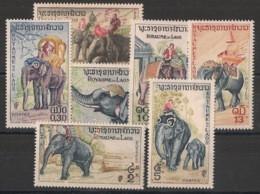 Laos - 1958 - N°Yv. 44 à 50 - Elephants - Neuf Luxe ** / MNH / Postfrisch - Olifanten