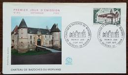 FDC 1972 - YT N°1726 - CHATEAU DE BAZOCHES DU MORVAND - 1970-1979