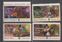USA 1975 - American Heroes, Set Of 4 Stamps, MNH** - Estados Unidos