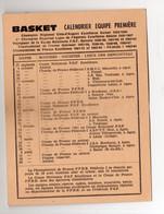 (sport Basket) Calendrier Bleuets Agenais 1964-65 +carte De Membre + Pub (PPP25248) - Programmes