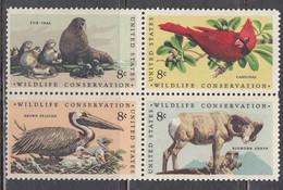 USA 1972 - Nature Protection, Set Of 4 Stamps, MNH** - Estados Unidos