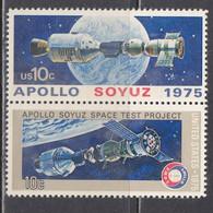 USA 1975 - Space: Soyuz-Appolon, Set Of 2 Stamps, MNH** - Estados Unidos