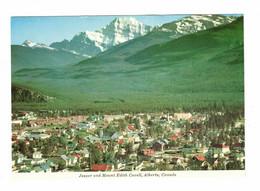 JASPER, Alberta, Canada, BEV & Mount Edith Cavell, Old 4X6 Postcard - Jasper