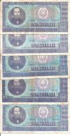 ROUMANIE 100 LEI 1966 VF P 97 ( 5 Billets ) - Romania