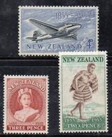 ZEL343 - NUOVA ZELANDA 1955 ,  Serie Yvert N. 343/345  ***  MNH . - Nuovi