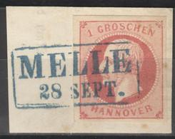 Hannover 14a O Briefstück Rahmenstempel Melle - Hannover
